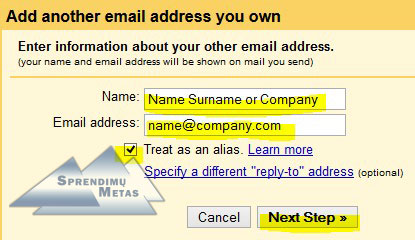 how to create company email address in gmail